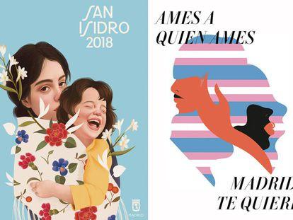 Dos ejemplos de las nuevas campañas municipales de Madrid.