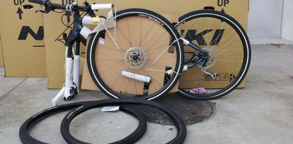 Una de las biciletas recuperadas.