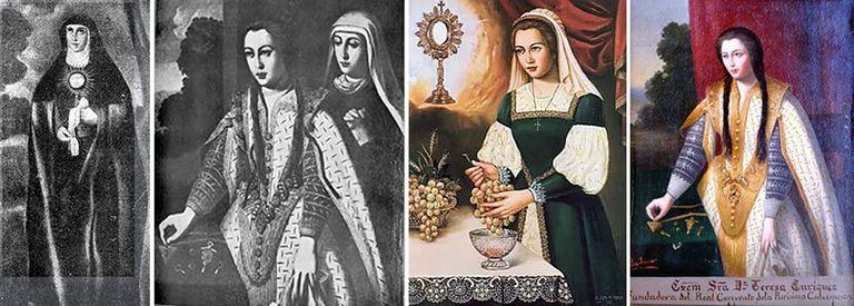Retratos de la mecenas Teresa Enríquez (1450-1529).