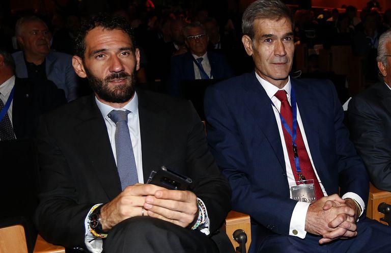 Jorge Garbajosa y Antonio Martín, presidentes de la FEB y la ACB.