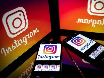 Logo de la red social Instagram en 'smartphone' y 'tablet'.