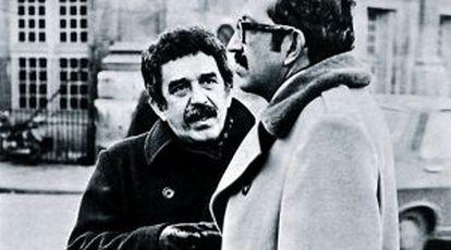 García Márquez y Plinio Apuleyo Mendoza en París en los años sesenta.