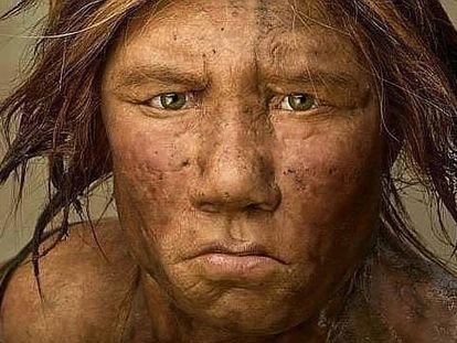 Recreación de una mujer neandertal.