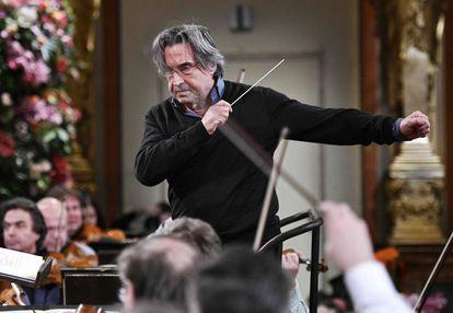 Riccardo Muti, en los ensayos hoy del Concierto de Año Nuevo en Viena.