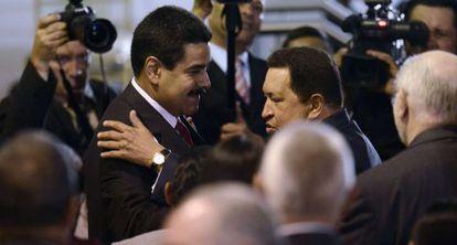 Chávez y Maduro esta semana en Caracas.