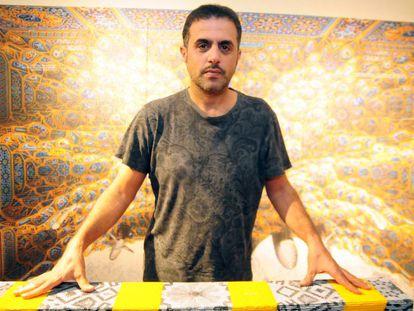 El artista saudí Abdulnasser Gharem, el pasado diciembre.