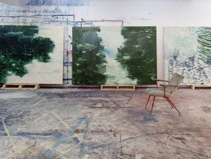 Hugo Fontela, pintura-río