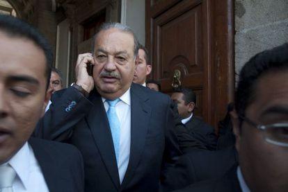 Carlos Slim, en un acto en México.