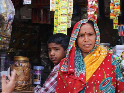 Usuarias del proyecto de los microcréditos en India.