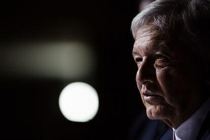 El presidente de México Andrés Manuel López Obrador durante una conferencia de prensa.