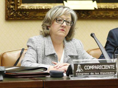Flor López Laguna, directora de la Oficina de Conflictos de Intereses, en el Congreso.