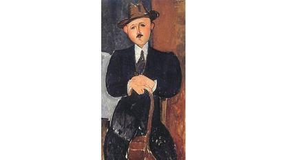'Hombre sentado con un bastón', de Modigliani (1918), propiedad de la familia Nahmad.