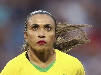 Marta durante el partido contra Francia este domingo en Le Havre.