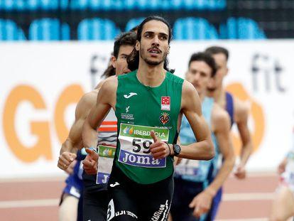 Mohamed Katir, en el campeonato de España de atletismo de pista cubierta, en febrero pasado.