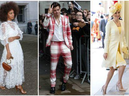 De izquierda a derecha: Solange Knowles, Harry Styles y la reina Letizia.