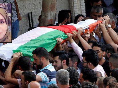 Funeral de Aisha al Rawbi, el pasado octubre.