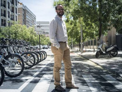 El gerente de la EMT, Álvaro Fernández Heredia, en Madrid.