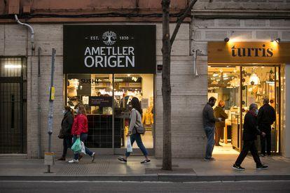 Una tienda de la cadena Ametller Origen de Barcelona.