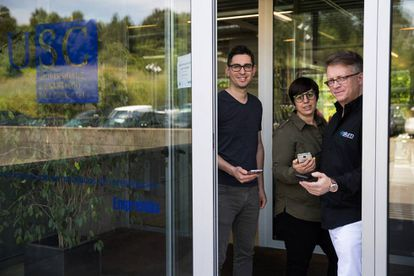 Víctor Álvarez, Cristina Gamallo y Gregory Botanes, directivos de Situm