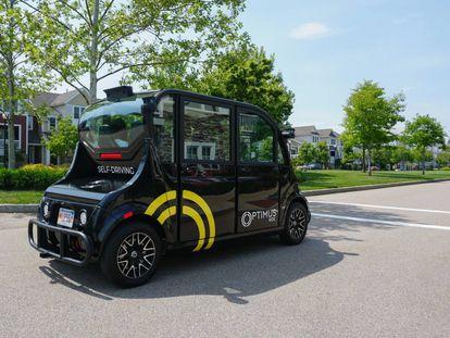 Los vehículos sin conductor de Optimus Ride funcionarán en una nueva urbanización para llevar a los vecinos a la estación de tren.