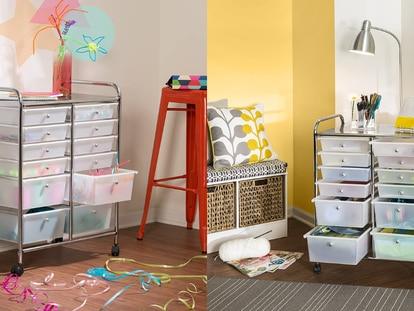 Este carrito organizador con ruedas es ideal para mantener tus espacios ordenados y encontrar objetos rápidamente