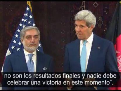 El secretario de Estado de EE UU se reúne con ambos candidatos a la presidencia afgana