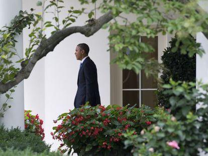 Obama, en  la Casa Blanca, el 19 de julio.