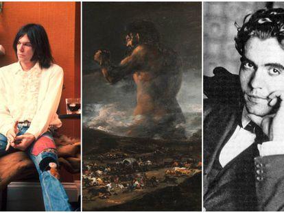 Neil Young, Goya (en la imagen, 'El coloso') y Federico García Lorca son algunos de los artistas a los que se les han adjudicado obras que no crearon.