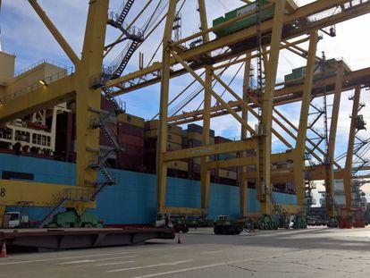 Imagen de archivo de las instalaciones del puerto de Valencia.