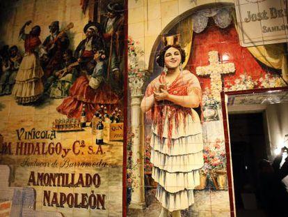Uno de los murales del tablao Los Gabrieles.
