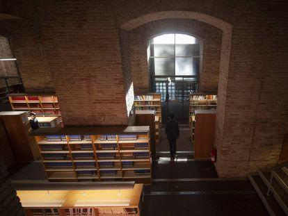 La nueva sala del archivo de Vattimo en el edificio de las Aguas de la Universidad Pompeu Fabra, en Barcelona.