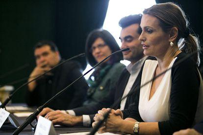 La soprano Ainhoa Arteta durante la presentación del concierto.