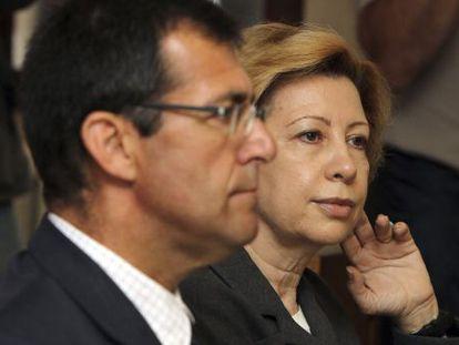 Maria Antònia Munar y Miquel Nadal, durante la tercera jornada del juicio del 'caso Maquillaje'.