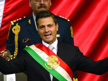 Peña Nieto, tras ser investido presidente.