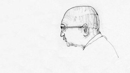 Dibujo de Martín Domínguez realizado por un alumno en Cornell.