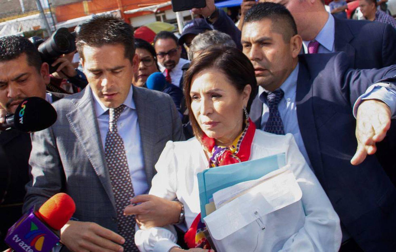 Rosario Robles, secretaria de Desarrollo Social en el Gobierno de Peña Nieto, antes de ingresar a prisión.