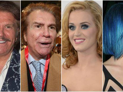 Edmundo 'Bigote' Arrocet y Katy Perry.
