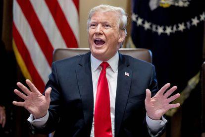 Donald J. Trump, en una reunión con su gabinete en la Casa Blanca.