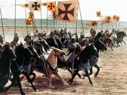 Carga de la caballería cruzada, en un momento de de 'El reino de los cielos'.