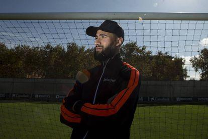 Fekir, en el campo B de la ciudad deportiva del Betis.
