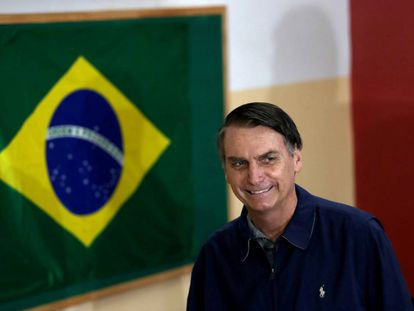 Jair Bolsonaro, el día de la votación en el primer turno