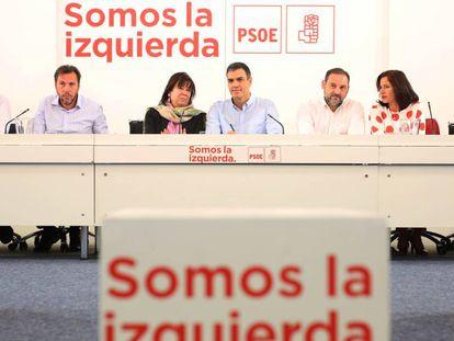 La Comisión Permanente del PSOE, este lunes.