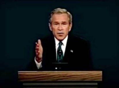 George Bush, en el <i>spot </i>objeto de la polémica.