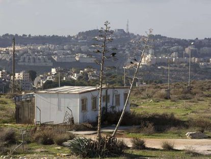 Una caravana en Givat Hamatos, colonia judía junto a Jerusalén Este.