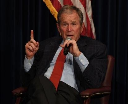 El expresidente George W. Bush, en un acto público en California en 2017.