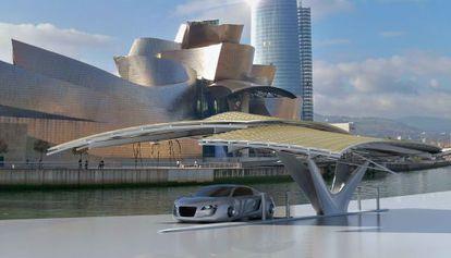 Estación de recarga de coches eléctricos desarrollada por el arquitecto y diseñador español Daniel Martin Ferrero.