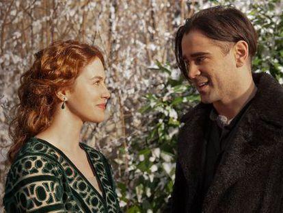 Colin Farrell y Jessica Brown Findlay en 'Cuento de invierno'.