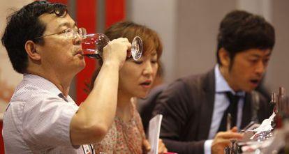 Feria del vino en Hong Kong.