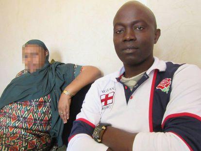 Fatou Sow y Djamil Bangoura.
