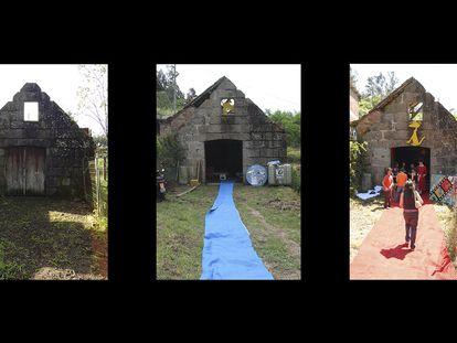 Proceso de transformación del Cuberto de Antonio para la celebración del Festival de Cans.